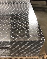 4 X 8 Aluminum Diamond Plate Sheet 025 Thick Embossed Polished