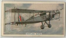 Westland Wapiti British Single Engine Bipane  80+ Y/O Trade Ad Card