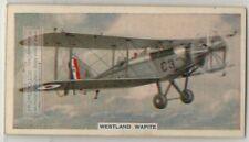 Westland Wapiti British Single Engine Bipane  80+ Y/O Trade Ad Card
