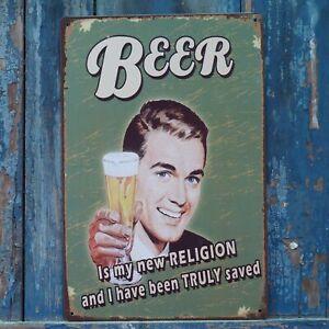 Man Cave Beer Poster Vintage Tin Metal Signs Home Pub Bar Wall Creative Decor