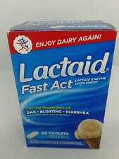 Lactaid Fast Act Lactase Enzyme Supplement 60 caplets *Free Shipping