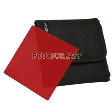 """FOTGA 4 X4"""" Square Red Color filter for Matte box Cokin Z Hitech Lee holder"""