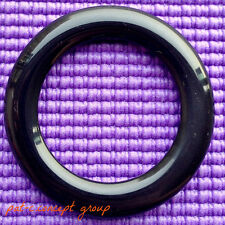 New 2 Pieces Solid Black Acrylic Tote/Purse Strap/Handbag Handle Round O-Rings