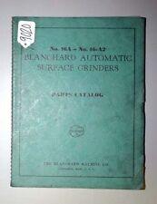 Blanchard Parts Catalog for No. 16A- No. 16-A2 Auto, Inv. 9020