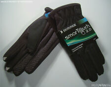 Isotoner Mens Smartouch Touchscreen Texting Wool Gloves Black LARGE NWT