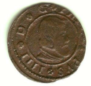 Currency 16 Maravedis Felipe IV 1662/64 And Madrid