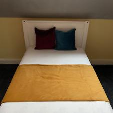 Handmade Plush Velvet Bed Runner Throw Soft Feel Home Decor Sofa Cover Blanket