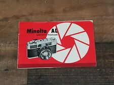Minolta Al Original Genuine Owners Instruction Manual Japan