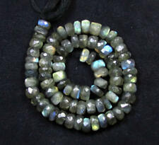 "255 CT & 9mm Labradorite Rondell Beads for Necklace / Bracelets, 1 Strand 16""-SL"