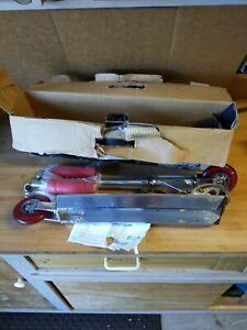 Vintage 2000 Razor MS-130 A2 Wheel Fold up Kick Skate Red silver Scooter w/Box