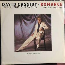 DAVID CASSIDY • Romance • Vinile 12 Mix • 1985 ARISTA