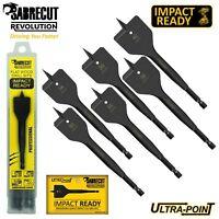 SabreCut Impact Driver Spade Flat Wood Drill Bits Set For Dewalt Bosch Makita