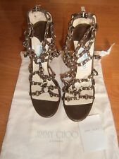 JIMMY CHOO AUTHENTIC WOMEN LEATHER HEELS SHOES SIZE 37 EX DISPLAY