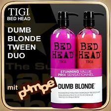 DUMB BLONDE Shampoo Conditioner (2x750ml) BED HEAD TIGI Tween Duo (mit Pumpe)