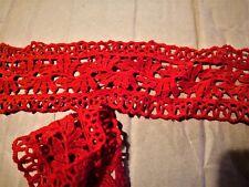 dentelle guipure rouge 7 cm de large