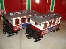 LGB 72304 RED & WHITE 2 PIECE CHRISTMAS PASSENGER CAR TRAIN SET BRAND NEW NO BOX