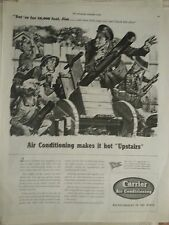 1942 Carrier Air Conditioning WWII Military Sargeant Jimmys Brother Original Ad