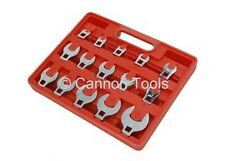 3/8 Inch Drive15 pce Crows Foot  Spanner Wrench Set Rail 8-24mm Open end Socket