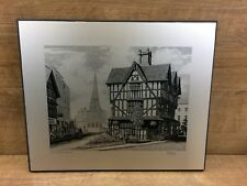 PETER J MANDERS THE OLD HOUSE  HEREFORD - METAL ETCHED PICTURE