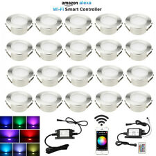20X Smart Home Wifi Control Timer RGBW 61mm Yard LED Deck Step Soffit Lights Kit