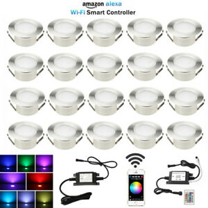 20X Smart Home Wifi Control Timer RGBW 61mm Yard LED Deck Step Soffit Lights Kit
