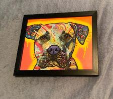 Dean Russo Love Drip Dog Pitbull Print 8x10 with Frame