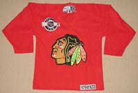NHL Hockey Chicago Blackhawks Center Ice Sewn Jersey Youth Kids Small CCM Red