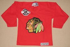 NHL Hockey Chicago Blackhawks Center Ice Sewn Jersey Youth Kids S Small CCM Red