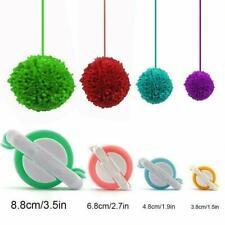 4 Size /Set Pom-Pom Pom Maker Fluff Balleaver Needle Knitting DIY Hot Tool L0C0