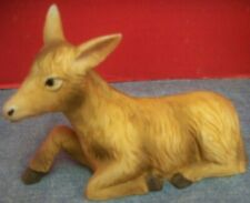 """Vintage Homco Home Interiors Porcelain Nativity Replacement Donkey 5 3/4"""" Long"""
