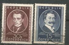 AUSTRIA Scott# 560/561 (o) Strauss