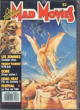 Cine Fantastique Mad Movies French Magazine no.53 Les Zombies Gore 012918DBE