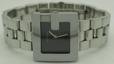 Mens GUCCI 3600M Stainless Steel Black Dial Swiss Made Quartz 32mm Wrist Watch