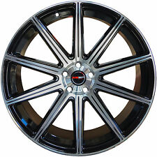 4 GWG Wheels 22 inch Black MOD Rims 22x10.5 fits CHRYSLER 300C AWD 2005 - 2018