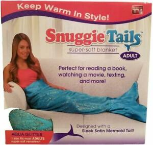Snuggie Tails Adult Teal Mermaid by Snuggie, One Size