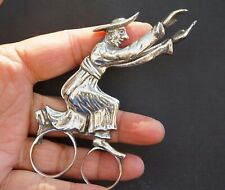 Vintage Sterling Silver Sugar Tong Man Catching Butterfly