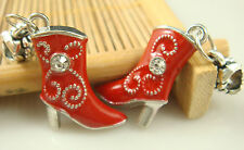 Fashion High-heeled shoes pendant Crystal charms beads For European bracelet 71n