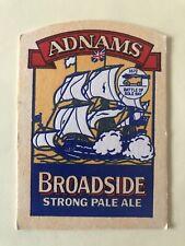 Adnams Broadside Strong Pale Ale Battle Of Sole Bay Southwold Vintage Beer Mat