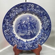 "Wedgwood England Plate Blue & White The Spirit of 76 ""Yankee Doodle"" 10 1/4"""
