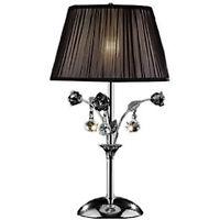 "HONGVILLE K-5138T Crystal Rose Table Lamp, 28""H"