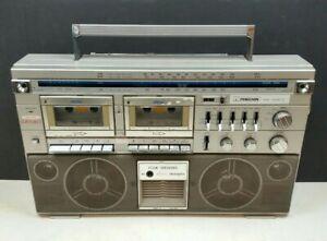 Ferguson 3T22 Boombox Ghetto Blaster Vintage 1980s Twin Cassette Tape Radio