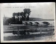 CHAMPS-sur-YONNE (89) PONT & DEVERSOIR , BORDS DE L'YONNE / Photo légendée
