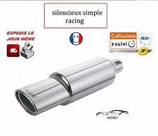 Silencieux Simoni Racing Universel ligne échappement Sortie Simple Ovale