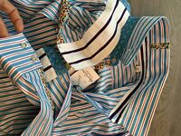 ROBERT GRAHAM STRIPED STREtCH LIMITED COMFORT MODERN FIT MENS HEMD SHIRT XL