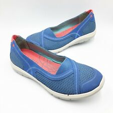 Cobb Hill Womens size 7 M Slip On Sneakers Blue Fabric