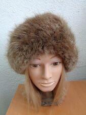 "EXCELLENT CANADIAN LONG HAIR BEAVER FUR HEADBAND WOMEN WOMAN SIZE 20"" X 5"""
