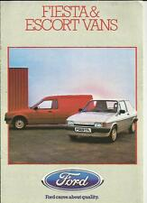 FORD FIESTA AND ESCORT VANS SALES BROCHURE 1984 1985