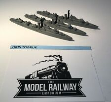 VINTAGE TRIANG MINIC SHIPS - M782 - HMS TOBRUK X 3 - RARE UNBOXED DIECAST