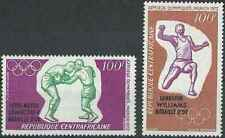 Timbres Sports JO Boxe Athlétisme Centrafrique du BF8 ** lot 22799