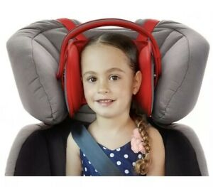 Napup Child Car Seat Head Support - A Comfortable Safe Sleep Solution (Red)
